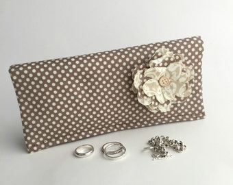 Jewelry Roll. Travel Organizer, Anti Tarnish, Jewelry Box.