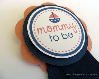 Nautical Baby Shower Decorations, Mom Pin, Baby Shower Decorations, Customized