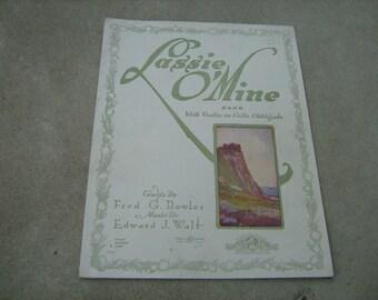 "1917  vintage sheet music (  Lassie 0"" mine )"