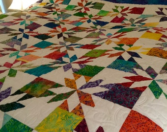 Batik Hunters Star Queen Quilt