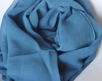 Cobalt Blue Chiffon Scarf - Low Shipping Costs - Great Gift