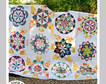 Kaleidoscope Quilt Pattern - Celestial Star Collection #222  - Quilt Pattern - Paper Piecing PDF 12in, 18in, 24in