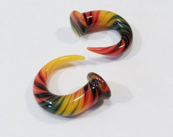 Glass Talons 0 gauge rasta 0g green yellow red rasta talon