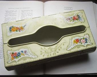 Vintage Tin Tissue Box * Vintage Baret Ware * 1960'70's Tin Box * Bathroom Decor * Shabby Chic Decor * English Garden Home Decor