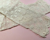 Antique lace sleeves, pair, circa 1890's, beautiful lace