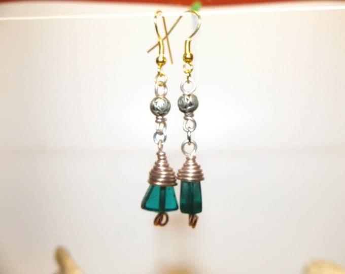 Dangeling Earrings, Glass Bead Earrings