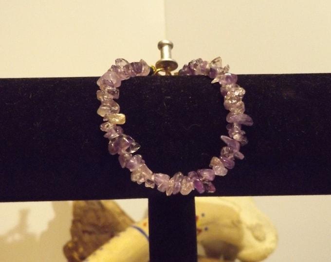 Amethyst Crystal Bracelet, Healing Crystal and Gemstone Jewelry, Healing Bracelet, Native American Inspired, Chakra Healing