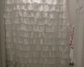 Custom Made to Order Ruffled Shower Curtain