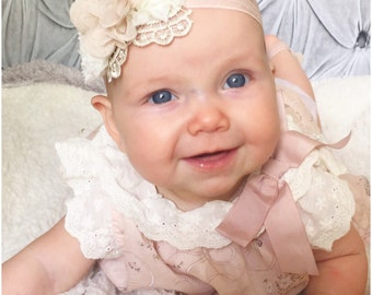 Baby Headbands ..Shabby Chic Floral Collection...YOur Choice of Headband or maternity sash....Newborn Collection...Headband Collection
