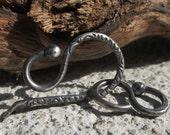 RESERVED Listing for RENEE HAFEMAN.  Handmade Sterling Silver Hook and Eye Clasp 37mm - Artisan Jewelry Findings - 16 gauge