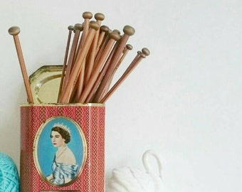 Set of 18 Carbonised Bamboo Knitting Needles