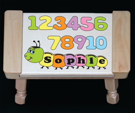 Personalized Name Pastel Number Children Puzzle Step