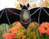 Bat Bram Stoker Stained Glass Halloween Gothic Vampire Count Dracula Pagan Yule Trueblood Xmas Wiccan Addams Family OOAK Original Design©