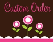 Custom Order - Applique Number Minnie and Name Bodysuit and Number Mickey and Name Bodysuit - For Jessica Boyuka