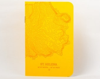 Sta. Helena Island Letterpress Notebook Yellow