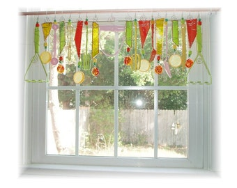 Citrus Extravaganza Kitschy Kitchen Window Treatment Valance Curtain