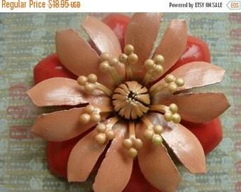 BIG SALE Vintage Enamel Beautiful Flower Brooch