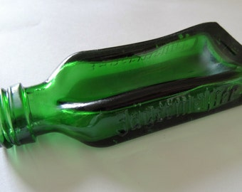 Cute Slumped Melted Small 2cl Jagermiester Miniature Bottle