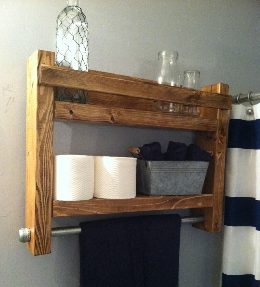 Bathroom Shelve: Bathroom Shelf Bathroom Storage Bathroom Towel Rack