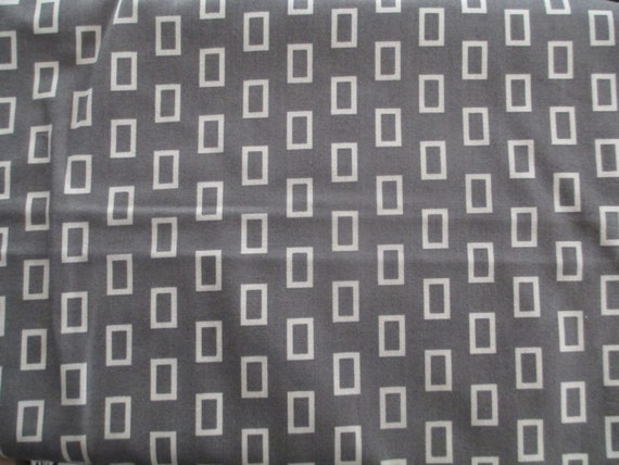 Grey White Rectangle Simply Style Fabric - 1/2 yd -  Moda