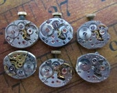 Vintage Antique Watch movements - Watch parts - Steampunk - Scrapbooking W71