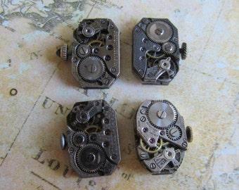 Featured - Steampunk supplies - Watch movements - Vintage Antique Watch movements Steampunk - Scrapbooking y3