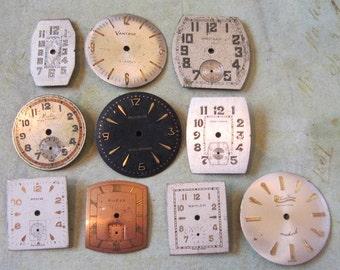Vintage Antique Watch  Assortment Faces - Steampunk - Scrapbooking f7