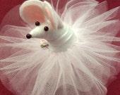 Custom Order for Pam Levenier/ White Ballerina Mouse
