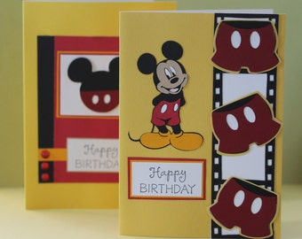 Mickey Mouse Happy Birthday Cards 2pk