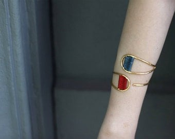 Wave Bracelet-Weaving Jewelry-Handcrafted Gold Plated Brass