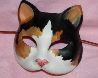 Calico Tortoiseshell Kitty Cat Mask LARP Puss in Boots Adult Size