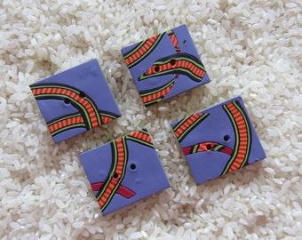 Purple Zippers Handmade Buttons