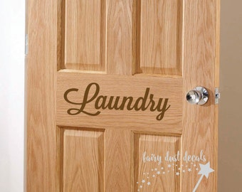 Laundry Door Decal, vinyl letters, laundry room lettering, washer and dryer, laundry decal, laundry sticker, home decals, pantry door decals
