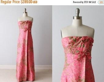 SALE 1960s Formal Dress / Strapless / Column Dress / Silk / Eveing Dress / Rappi