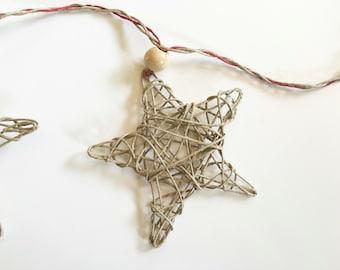 Hemp Star Holiday Garland