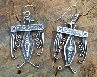 E11 Taos Thunderbird sterling silver southwestern native style earrings
