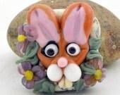 Lampwork Glass Bead, Focal Bead, Handmade Glass Bead, Rabbit, Bunny, Hare from Izzybeads SRA UK