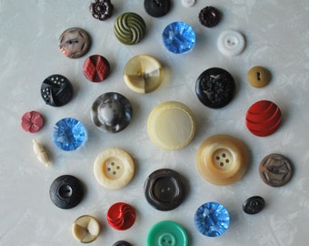 Vintage Buttons Vintage Craft Supplies