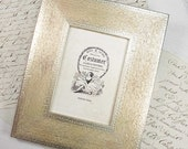 5x7 Wide Flat Engraved Silver Photo Frame