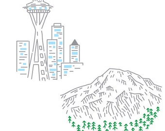 Seattle PDF Embroidery Pattern Pack