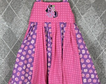 custom boutique twirl dress made with my little pony patch size 2-6