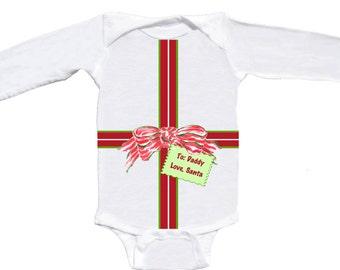 Sweet Christmas Romper Long Sleeve Baby Bodysuit by Mumsy Goose Newborn Rompers to Kids Tees