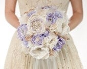Custom fabric brooch bouquet reserved for Antonella