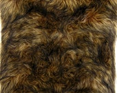 PLUSH FUR FABRIC Under a Yard: Wolf Fur Brown Fur Brown Black Fur Plush Fur Exotic Fur Arts Crafts Supplies Quality Remnants Animal Friendly