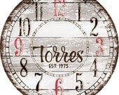 18 inch Personalized Wall Clock