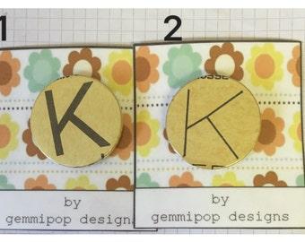 Alphabet Badges - K