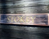 Old sign reproduction PERSONALIZED.  Vintage, Antique, Cottage, Nautical - Order yours today!