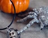 Skeleton skull necklace, skeleton jewelry, Halloween skeleton jewelry, skull necklace