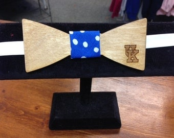 Wood Bow Tie with engraved UK, neck wear, mens tie