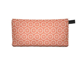 Tangerine Pencil Case - Free shipping USA and Canada